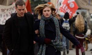 Matt Damon and Julia Stiles in The Bourne Supremacy.
