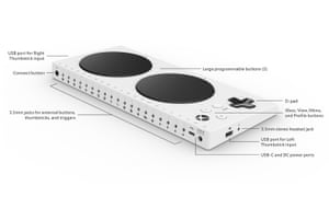 'Empowering' … the Xbox adaptive controller.