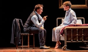 Harry Potter And The Cursed Child with Jamie Parker (left) as Harry Potter and Sam Clemmett as Albus Potter.