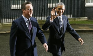 US president Barack Obama and Britain's prime minister David Cameron in Downing Street on Friday
