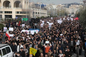 Iranians demonstrate in the capital Tehran following the killing
