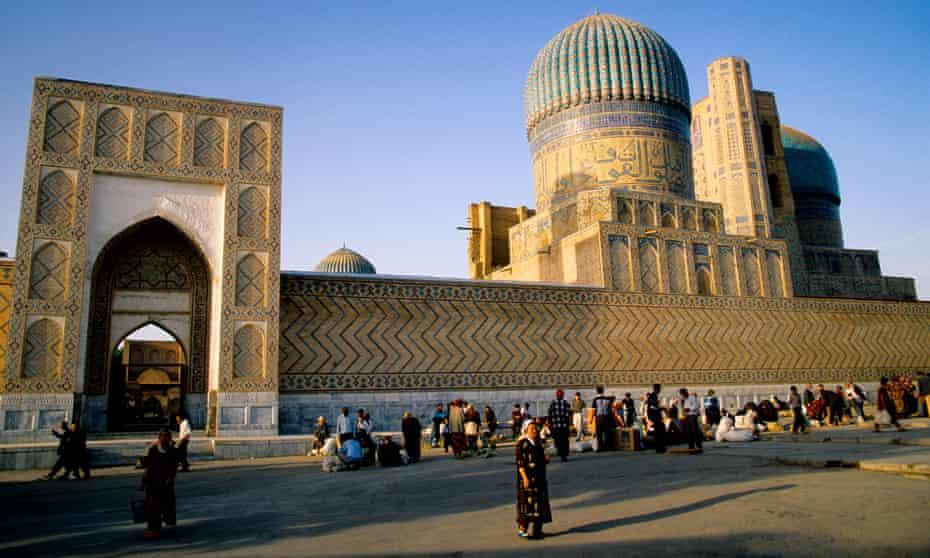 Samarkand's Registan Square.