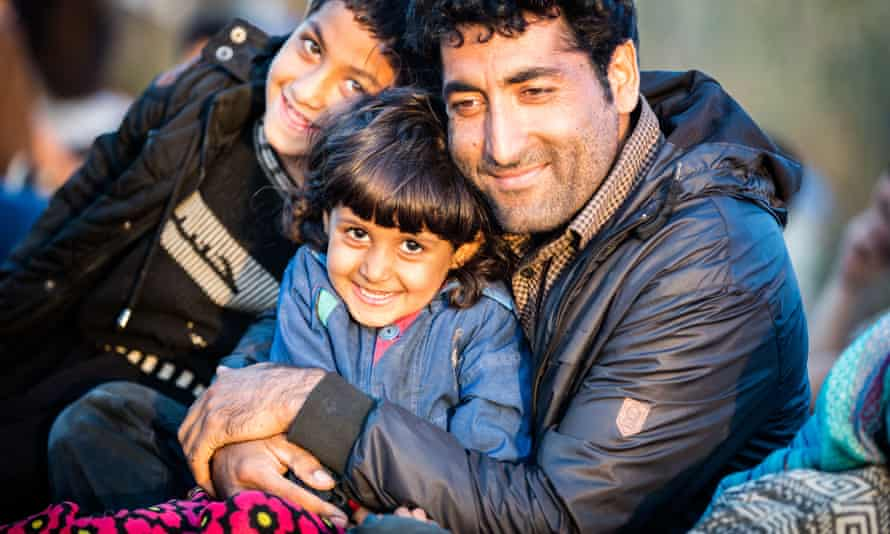 A family of refugees