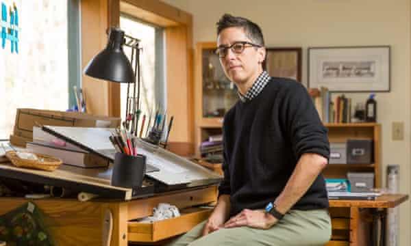 ... cartoonist Alison Bechdel in her studio.