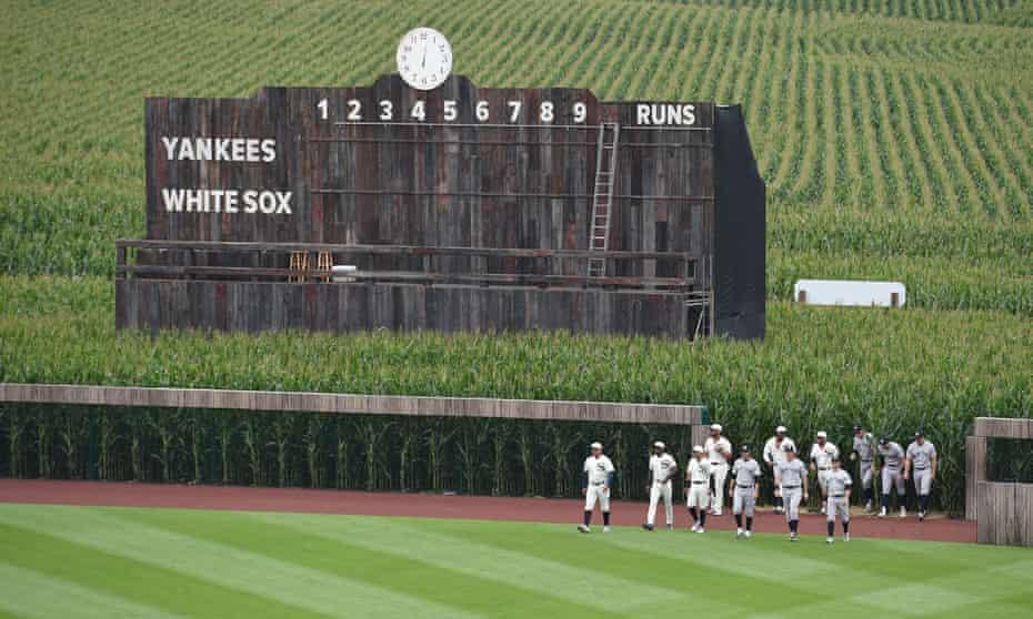 The scoreboard was given a retro feel