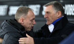 Steve Cooper and Tony Mowbray both criticised the referee after Blackburn and Swansea drew 1-1.
