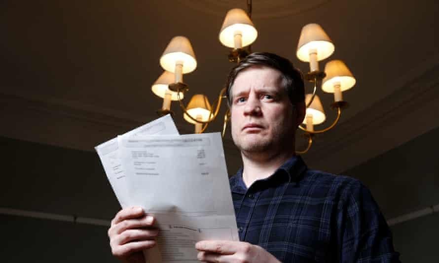 Dave Evans being chased by Scottish Power for a £5,445 debt he does not owe.
