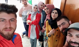 Some of the students at Mosul University who have been working on the project
