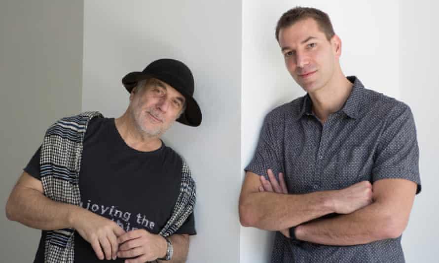 Asa Bruno, right, with Ron Arad.