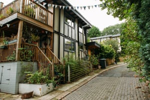 Self-build houses on Walter's Way in Lewisham, a concept created by the late German architect Walter Segal.