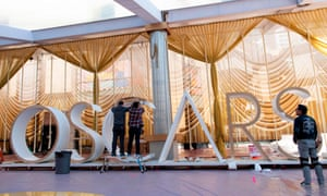 Preparations take place for the 92nd annual Oscars in Hollywood.