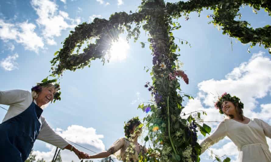 Midsummer celebration in Sweden