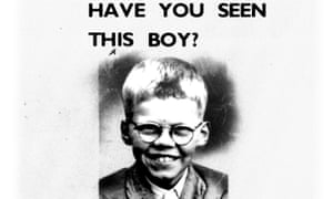Original missing person poster for Keith Bennett, abducted and murdered by Ian Brady and Myra Hindley in 1964