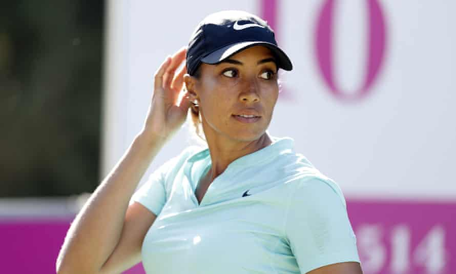 Cheyenne Woods at a golf tournament in Marbella in November 2019
