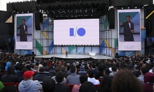 Pichai on stage at I/O