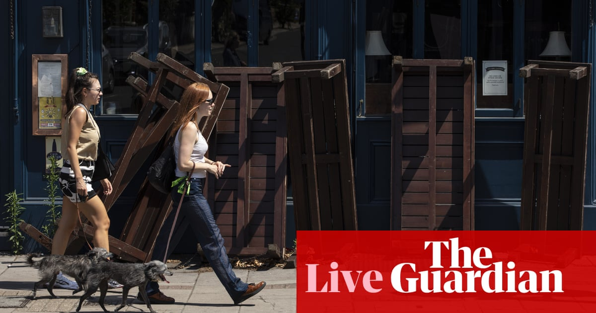 UK falls into recession as GDP tumbles 20.4% in April-June - business live