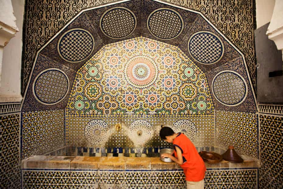 Water fountain, Fez, Morocco