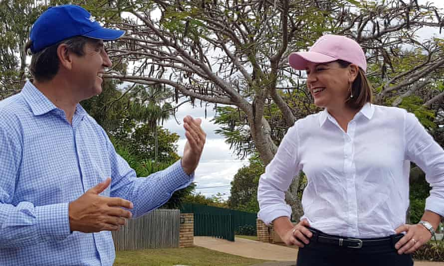 Oodgeroo MP Mark Robinson with LNP leader Deb Frecklington