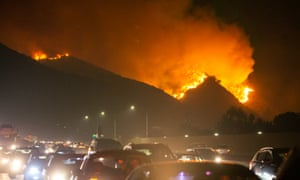 Laborers And Domestic Workers Stay Behind As Thousands Flee California Wildfires Us News The Guardian