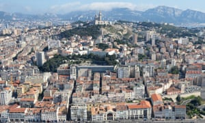 Aerial view of Marseille, France