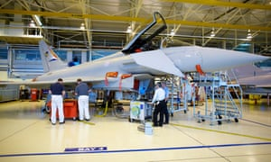Workers at the BAE Systems plant build the Typhoon