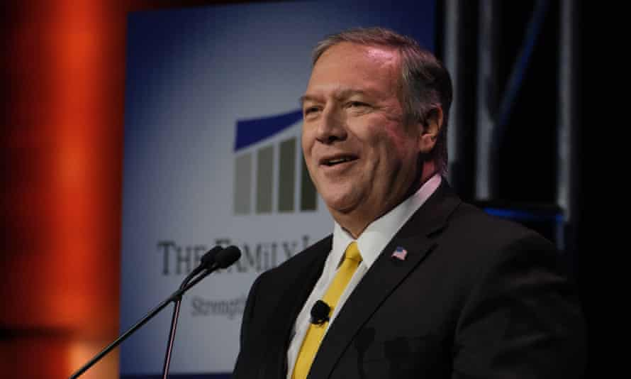 Former US Secretary of State Mike Pompeo in Des Moines, Iowa on 16 June 2021.