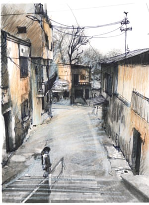 Sketch of back streets of Izmir