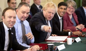 Boris Johnson holds a cabinet meeting with new ministers after the reshuffle on 14 February