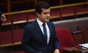 Labor Senator Sam Dastyari in the Senate on Wednesday.