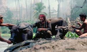 Dennis Hopper with water buffalo in Apocalypse Now