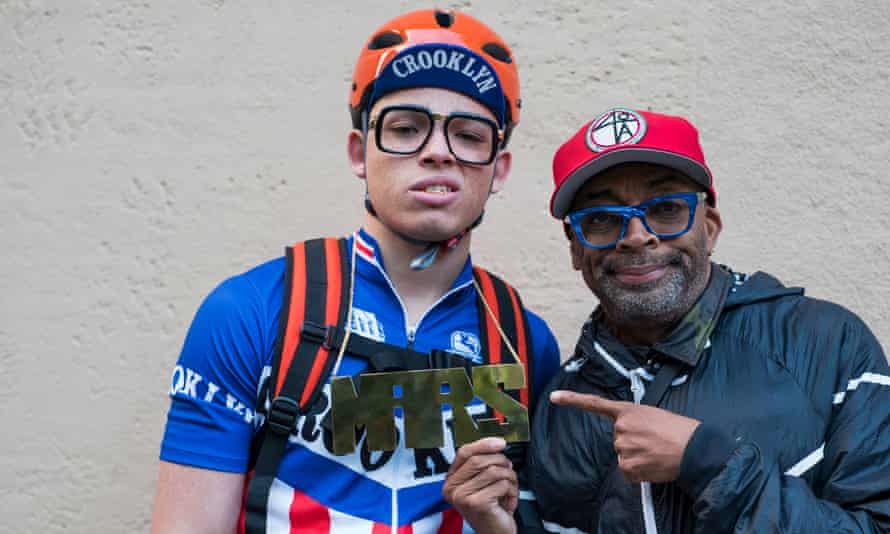 Anthony Ramos with Spike Lee in role for the Netflix series She's Gotta Have It.