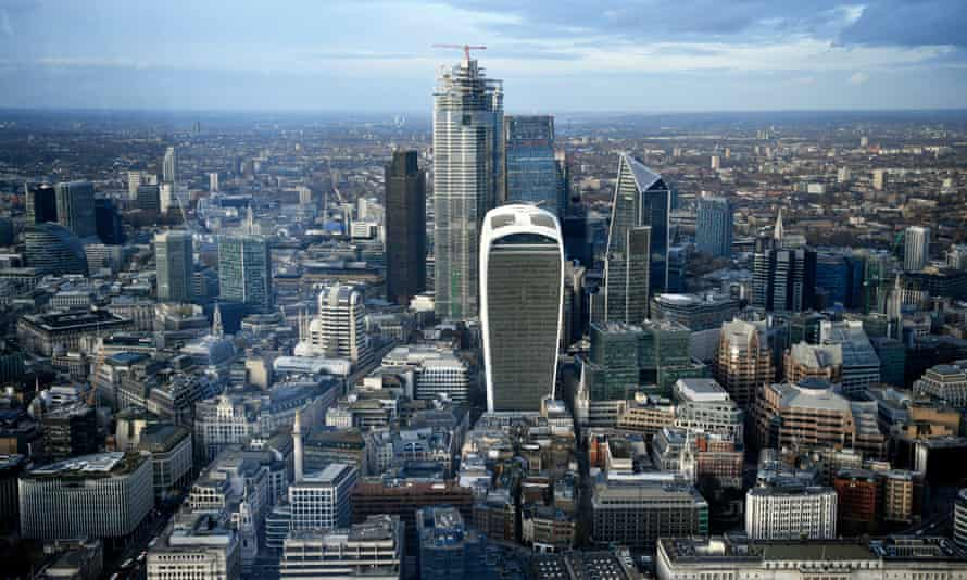 A view of the City of London.