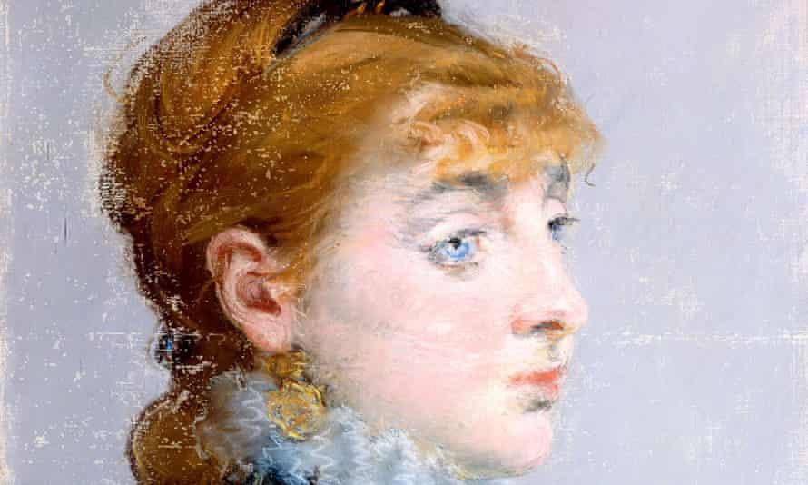Manet's portrait of Valtesse de la Bigne, aka Louise Delabigne (1879).