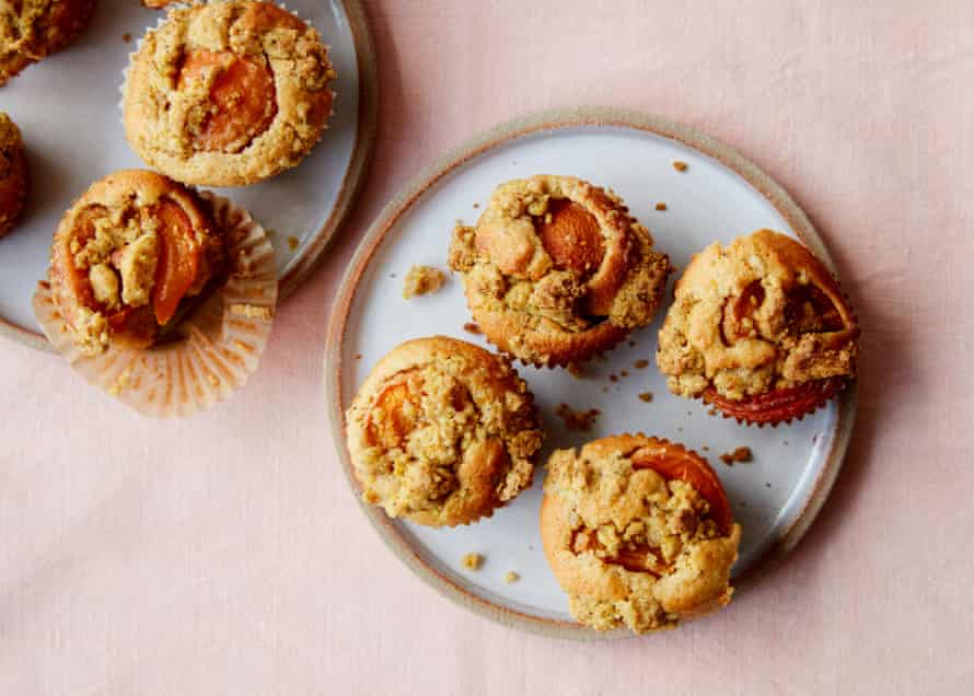 Anna Jones's apricot and almond crumble muffins.