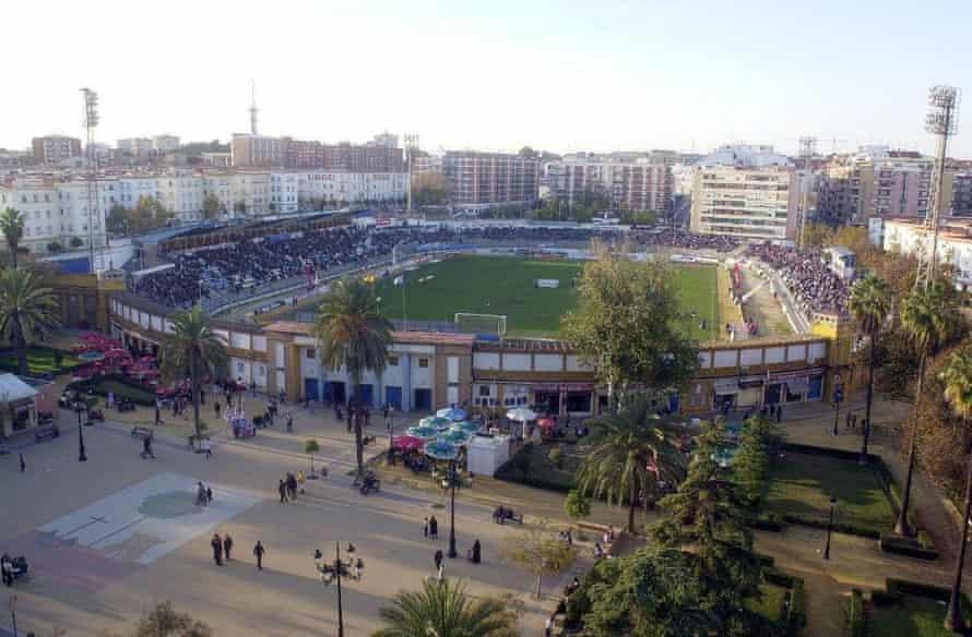 Recreativo Huelva's old stadium Estadio Colombino. 'The atmosphere was fantastic. It's just an empty building site now'