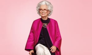 Bo Gilbert, Harvey Nichols' 100 year-old model in an ad for Vogue.