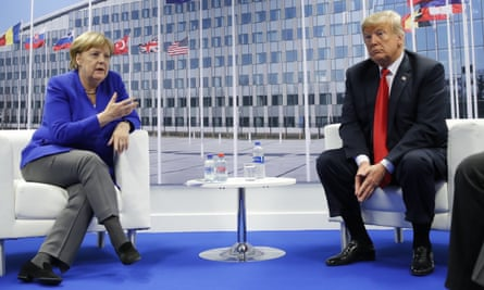 Trump's demand over defence spending came during a meeting at which Nato leaders discussed 'burden-sharing'.