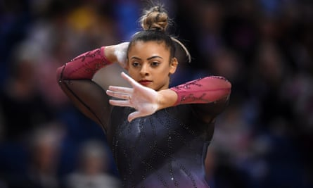 Ellie Downie at the 2019 British championships in Liverpool; she claims she was being told to repeatedly diet when she was 14.