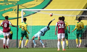 Norwich City goalkeeper Tim Krul makes a save.
