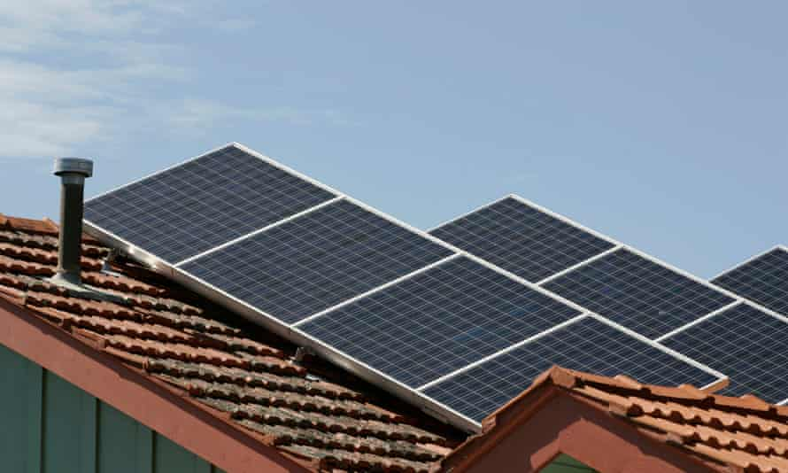 Solar panels on rooftops  in Melbourne