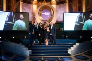 The OFM Editor's Award, in honour of the Andrew Fairlie, was presented by chefs Sat Bains and Tom Kerridge, and collected by Andrew's wife Kate.