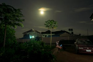 Ojongbodu Area, Oyo, Oyo State Nigeria Moonlight photograph of a neighbourhood at night. Every society needs to cultivate a conservatory attitude by making room for and encouraging mass planting of trees in their environment while other sources of renewable energy are being explored.
