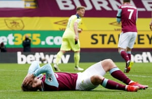 Matej Vydra reacts after missing a chance.