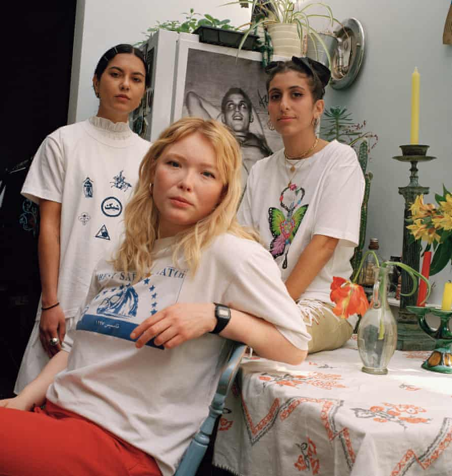Sarah, Sami and Roxy, Founders at Baesianz, Loughborough Junction.