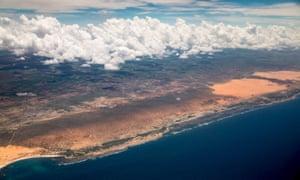 The Somali coast.