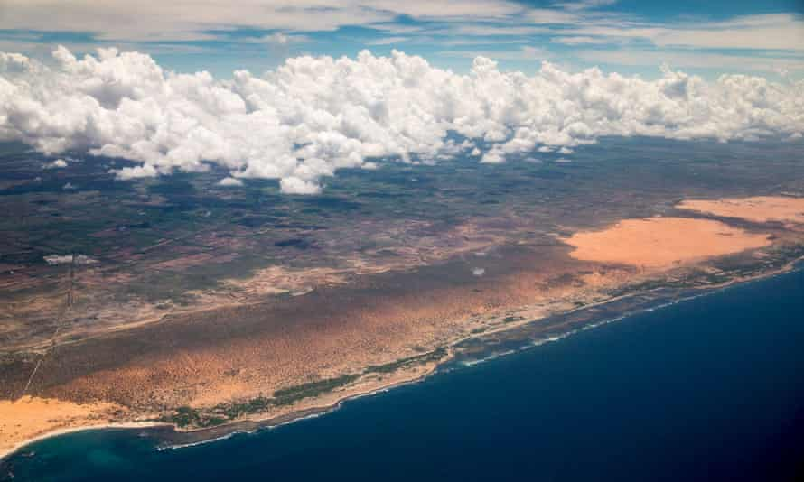 The Somali coast as seen from the air