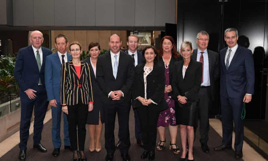State environment ministers with their federal counterparts at the COAG energy council meeting in Melbourne in April 2018