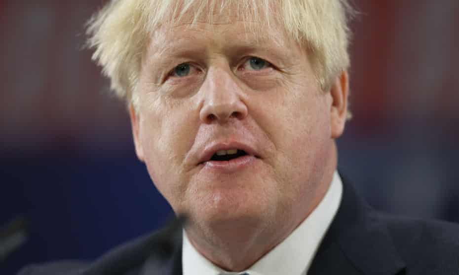 Boris Johnson on day four of the Conservative party conference at Manchester Central.