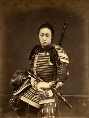 Portraits of a unidentified samurai in amour,