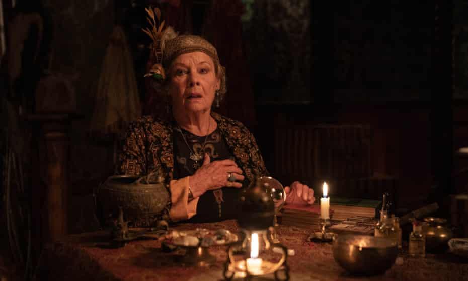 Dench as Madame Arcati in Blithe Spirit